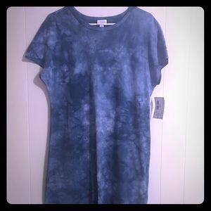 LulaRoe Blue Tie Dye Maria Dress NWTGS